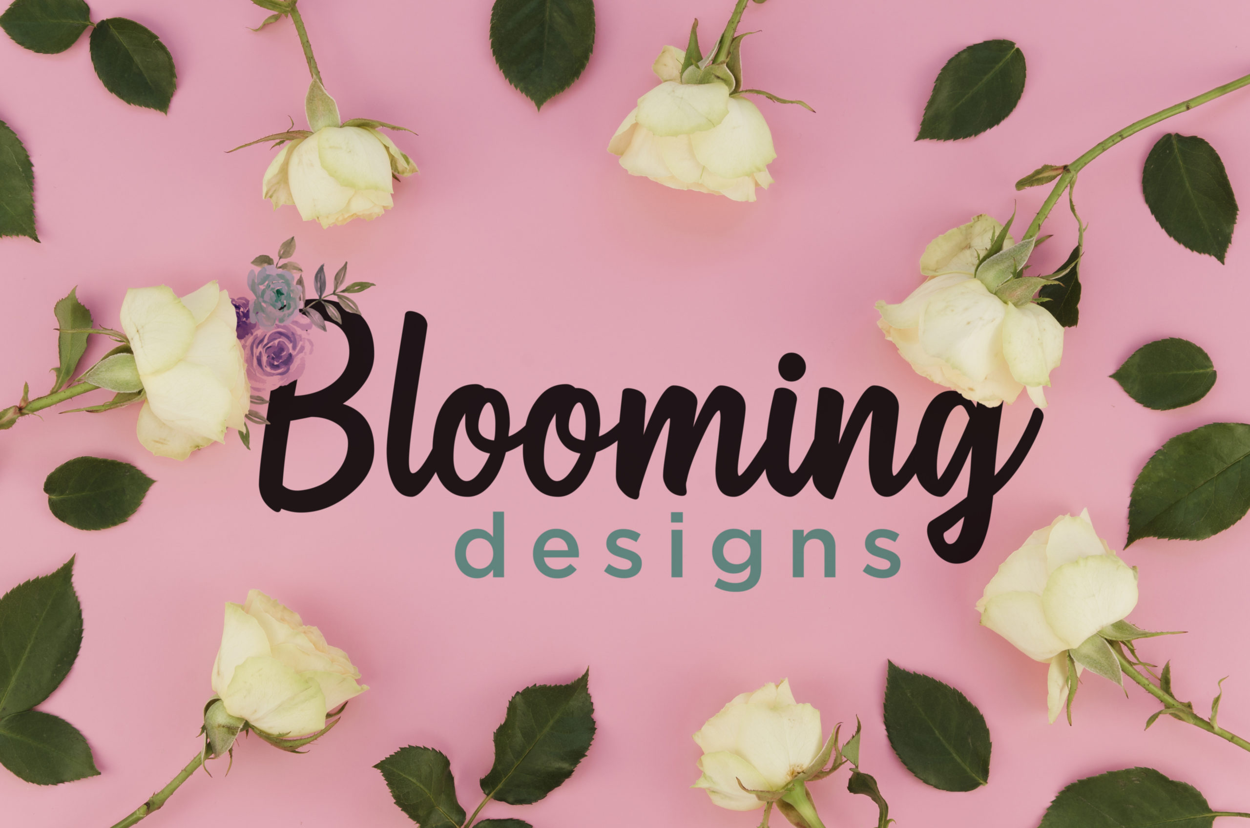 Decorative image showcasing the brand logo mixed with flowers